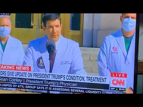 Dr. Sean Conley President Trump's Physician Saying Trump Will Leave Hospital, No COVID-19