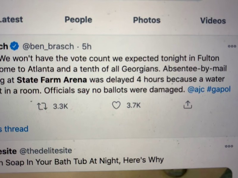 130,517 Absentee Ballots Impacted: Georgia Vote Delayed By Water Pipe Burst At State Farm Arena