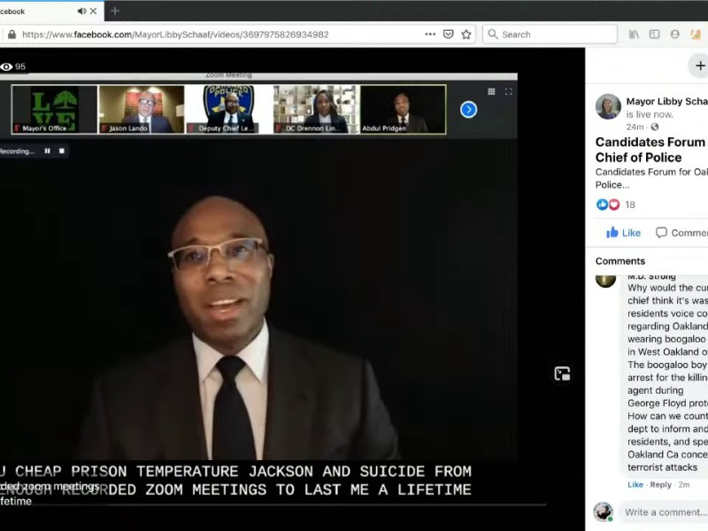 Oakland News Now Version of 2020 Oakland Police Chief Candidates Forum Livestream