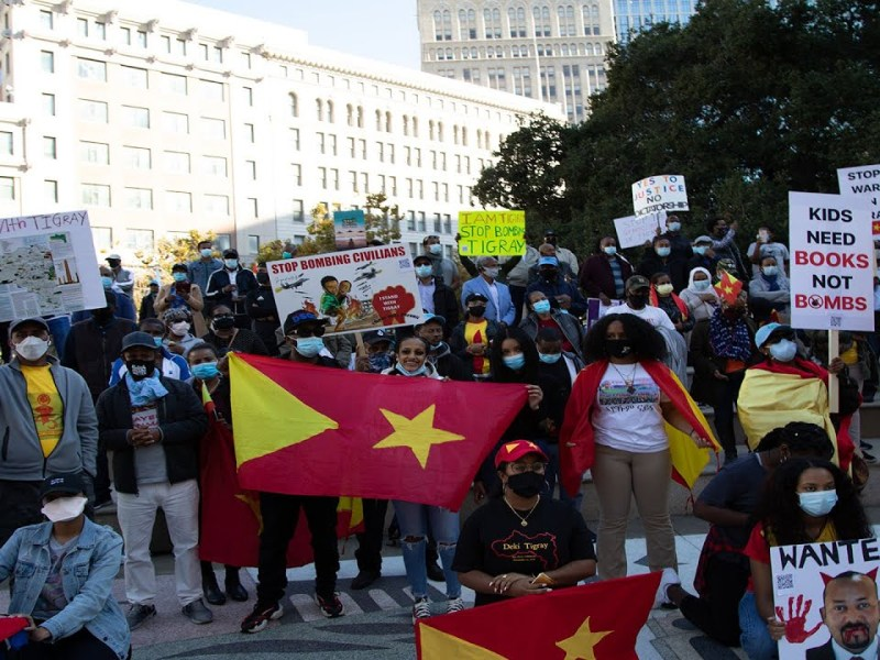Oakland Protest To Stop Bombing Kids In Tigray Focus Of YouTube Video