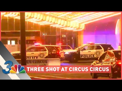 Three shot at Circus Circus Hotel and Casino