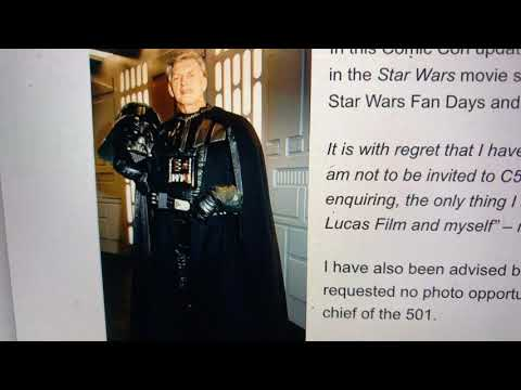 Why Star Wars David Prowse Was Banned From Comic Con Star Wars Fan Days, 501 Squadron Photo Events?