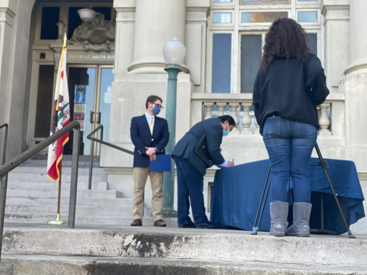 Berkeley Mayor Jesse Arreguín Entering