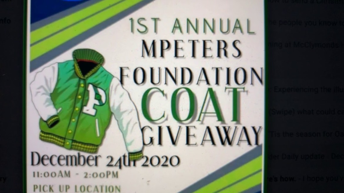 Christmas Eve 2020 Coat Giveaway At McClymonds High School Oakland 2607 Myrtle 11AM – 2PM PST