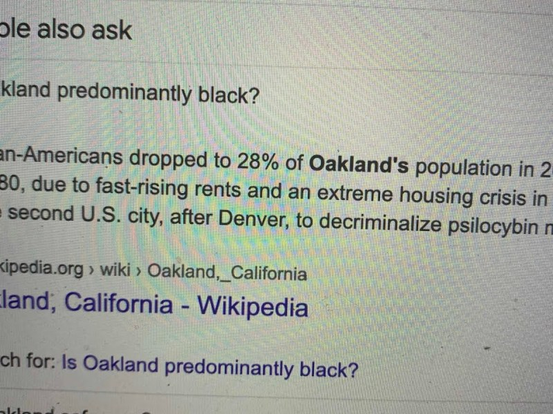 Google Is Perpetuating Racist Stereotypes About Oakland In Its Search Pages