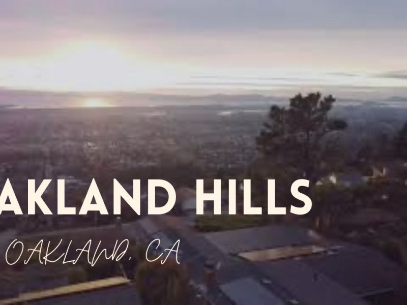 Oakland Skyline Or Video Checking Out Oakland Hills With A Drone