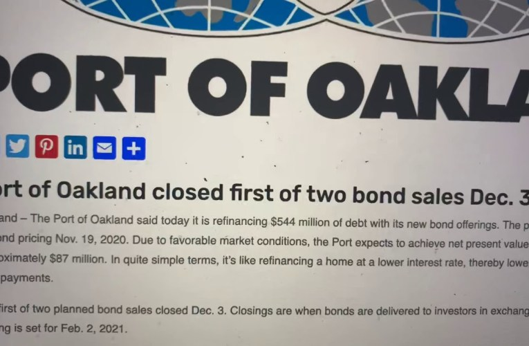Port Of Oakland Saves $87 Million In Refinancing Costs, Should Loan $62 Mil To City Of Oakland