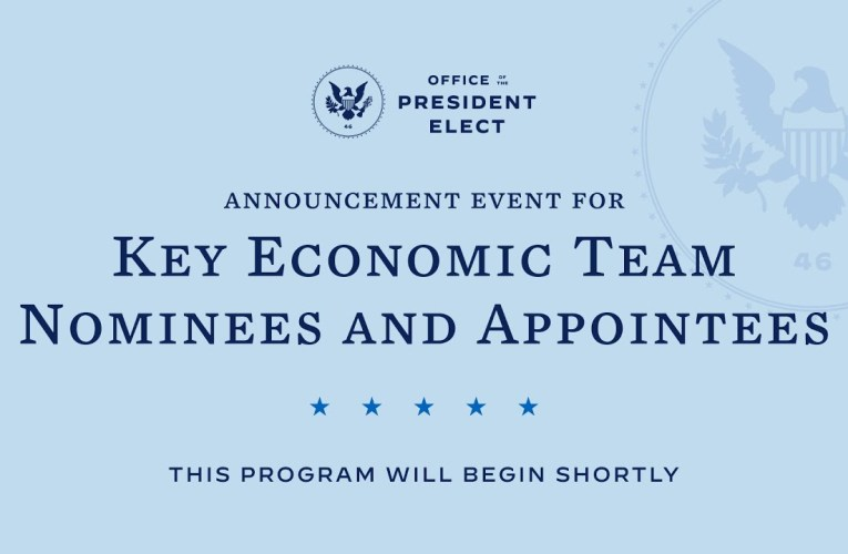 President-Elect Biden And Vice President-Elect Harris Introduce Key Members Of Economic Team