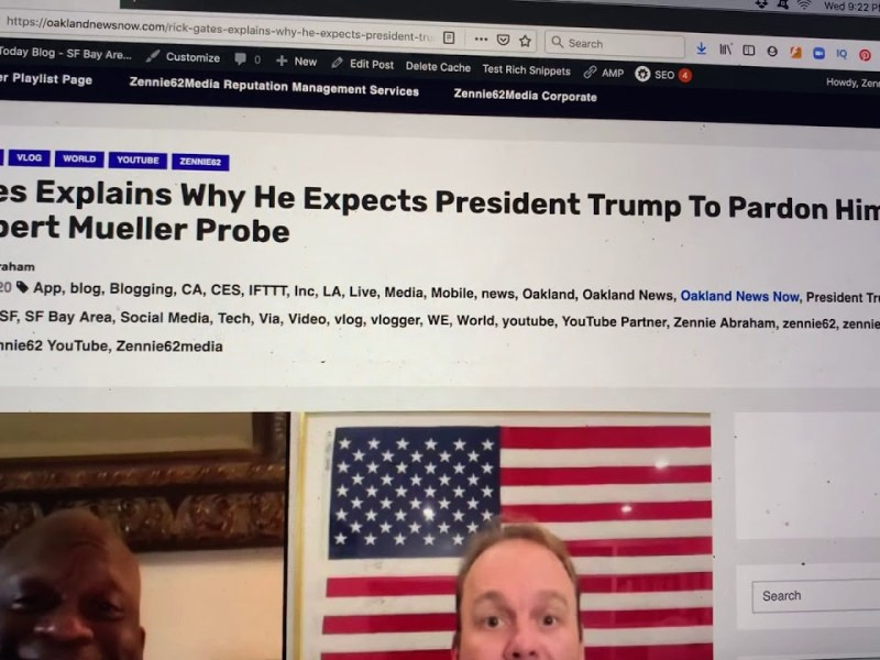 Rick Gates Not Yet Pardoned By President Trump But His Boss Paul Manafort, And Roger Stone, Were