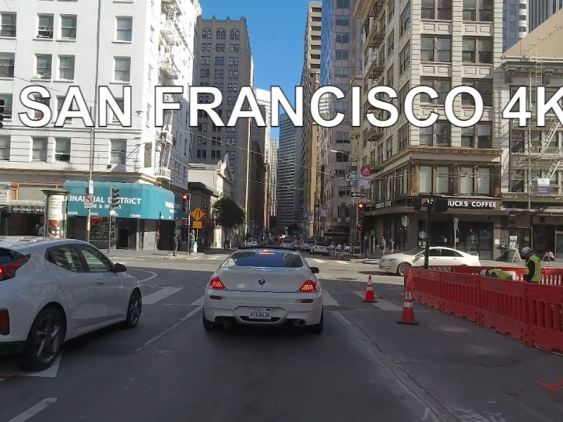 YouTuber Takes City Drive, San Francisco, Union Square, Chinatown – Ambient, ASMR