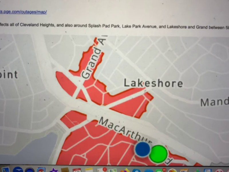 Oakland PG&E Power Outage Hurts Cleveland Heights, Lakeshore – Off For Three Hours And Counting