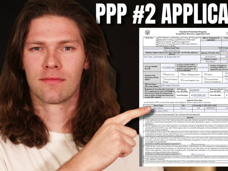 PPP Round 2 Application UPDATED 1/20 [Self Employed, 1099, & Small Business]