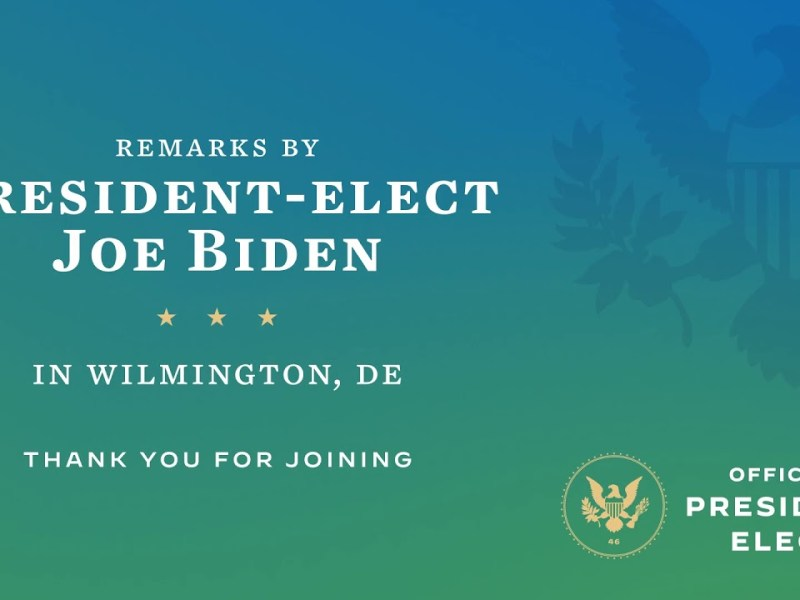 """President-Elect Biden Says """"Enough"""" To The Antics Of The Trump Administration"""
