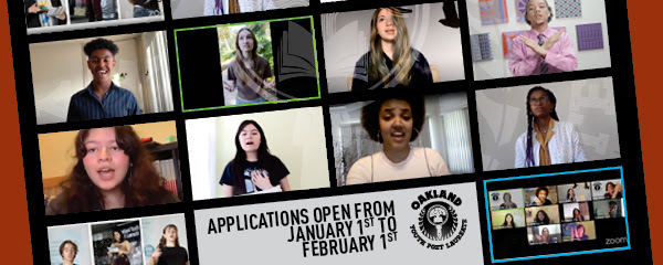 Apply for 2021 Oakland Youth Poet Laureate: