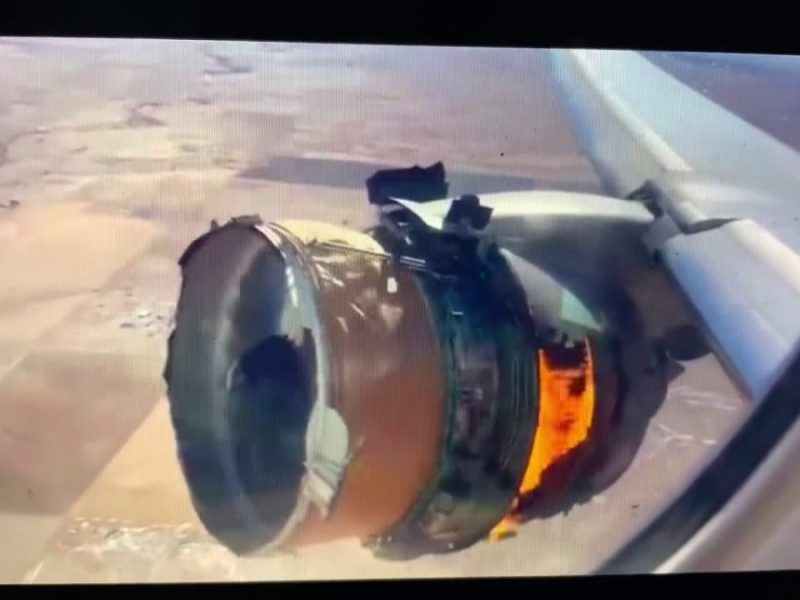 United Airlines – Engine On Fire From United Airlines Flight 328 Bound For Honolulu, Parts Dropped In Denver