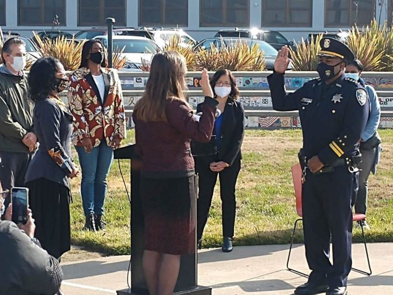 Oakland's New Police Chief LeRonne Armstrong's Swearing In Ceremony At McClymonds High School