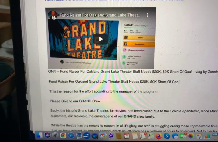 Grand Lake Theater Staff Fund Raiser Hits $29,000 Goal, Now $35,000 Level Set For GoFundMe Page