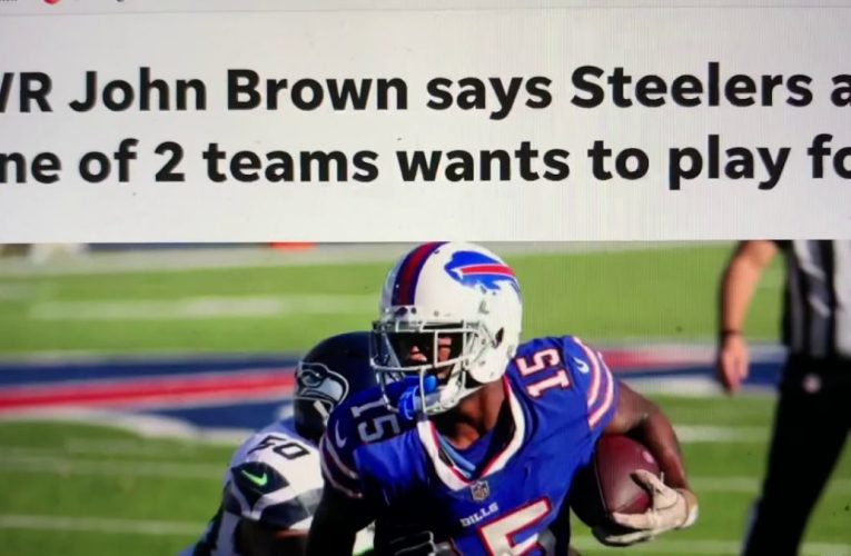 John Brown Signs With LV Raiders But Wanted Steelers Or Colts In NFL Free Agency – 1Year $3.75 M
