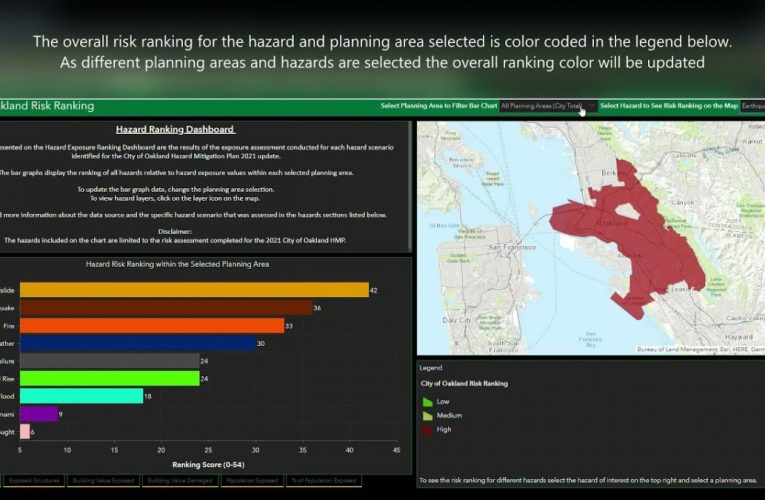 City of Oakland's Hazard Risk Ranking Story Map Tool