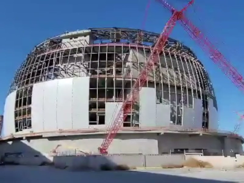 MSG Sphere Las Vegas Construction Update For April 3, 2021 By Mike Lowry Zennie62 Fan And Vlogger