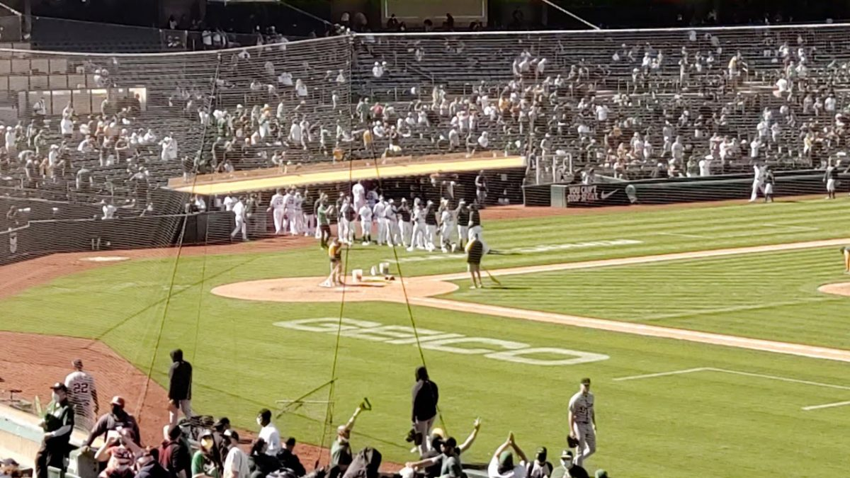 oaklandnewsnow.com: Oakland A's 2021 Final Out and Win Celebration VS Detroit Tigers 4/17/21