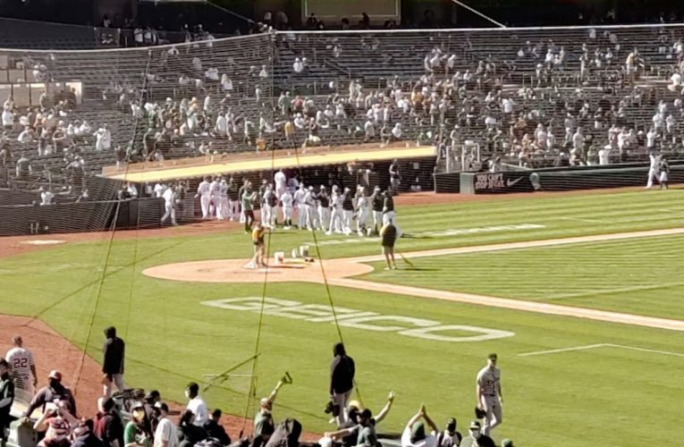 Oakland A's 2021 Final Out and Win Celebration VS Detroit Tigers 4/17/21