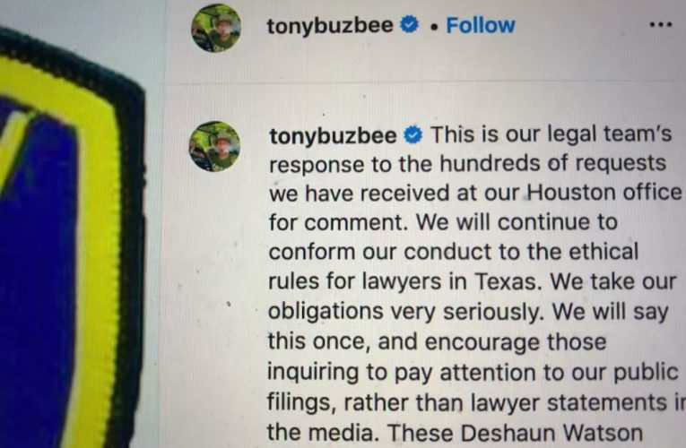 Tony Buzbee Deshaun Watson Houston Police Non-Lawsuit Excuse Is Abuse Of Process