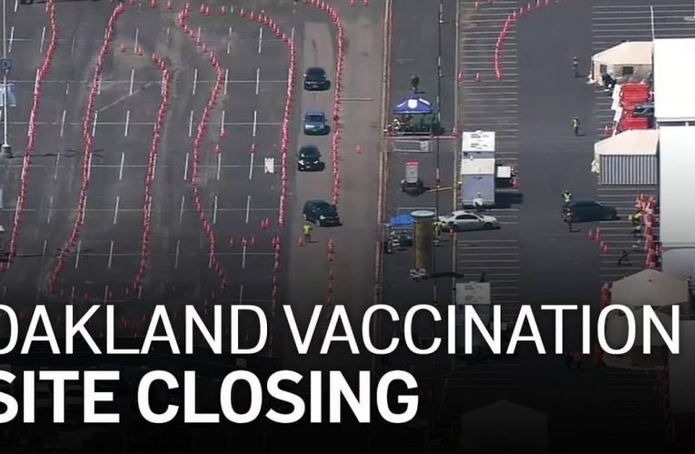 Mass Vaccination Site at Oakland Coliseum Closing