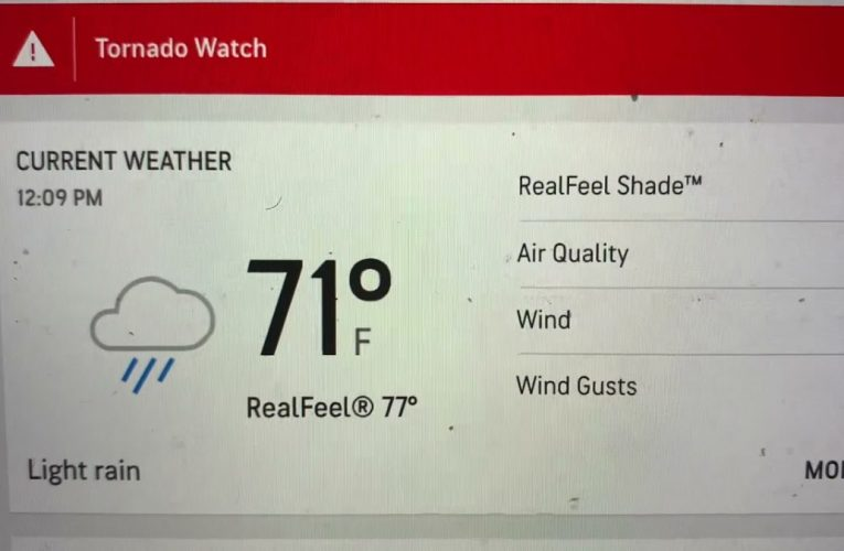 Tornado Watch For Fayetteville GA, Atlanta Metro Area Til 4 PM Today May 3