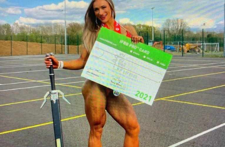 Victoria Vzvodnaya Female Bodybuilder Gets UK IFBB Pro Card After Just 2nd Show, Super Muscular Legs
