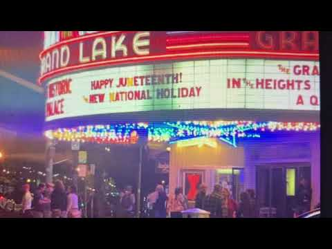 Happy Juneteenth Says Oakland Grand Lake Theater Marquee, Thanks To Allen Michaan