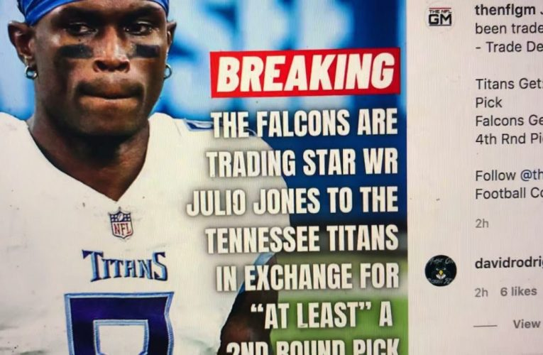 Julio Jones Traded To Tennessee Titans For 2nd Rnd Pick, Titans Stole Julio From Atlanta Falcons