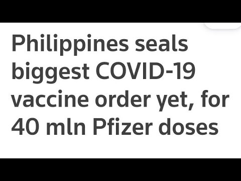 Philippines Orders Biggest Doese Of Covid Vaccine