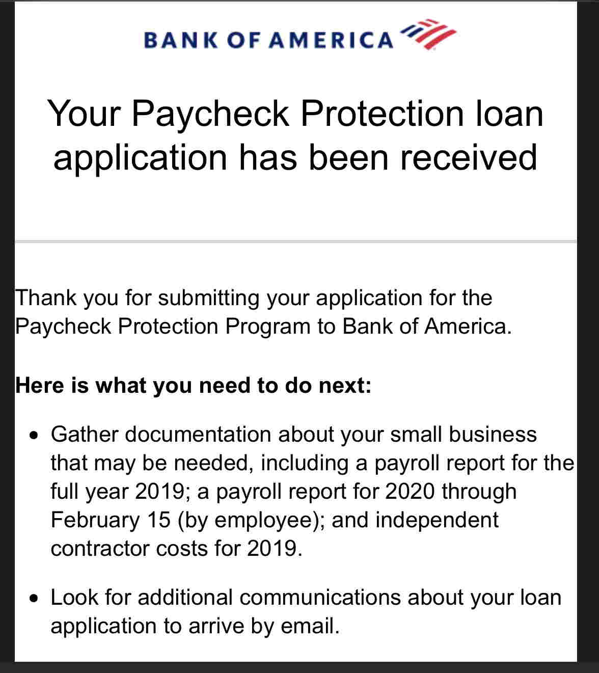Bank Of America Ppp Forgiveness And 1099 Contractors