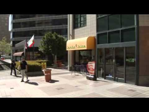 Oakland City Center: Courtyard and the Ronald Dellums Federal Building