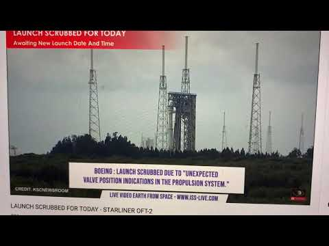 Boeing Starliner Launch Canceled For Today August 3 2021 Due To Propulsion System