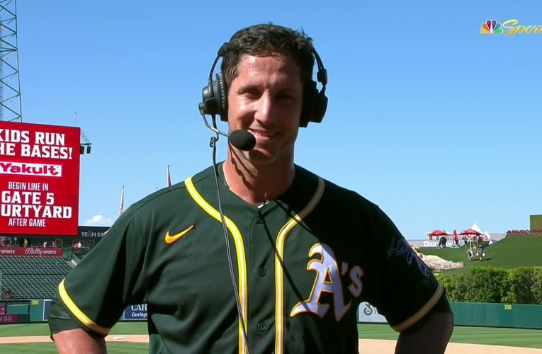 Yan Gomes after homering in his first Oakland A's game