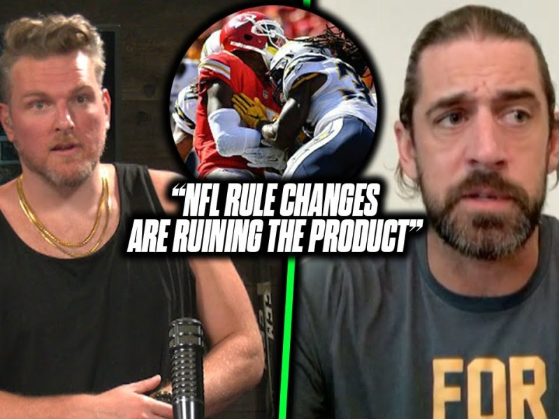 """Aaron Rodgers Talks How NFL Rule Changes Have """"Dumbed Down"""" The Game 