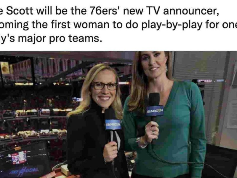 Kate Scott | Kate Scott Is Philadelphia's First Female Sports Broadcaster – That's No Accident – Here's Why