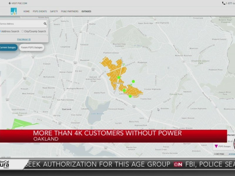 Latest update: More than 4K customers without power in Oakland