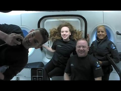 Live View of Inspiration4 Dragon Tracker | Cupola View