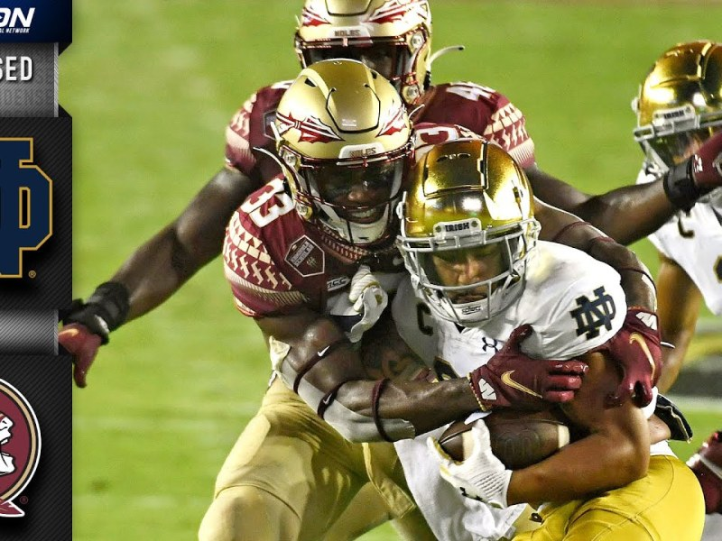 Notre Dame vs. Florida State Condensed Game   2021 ACC Football