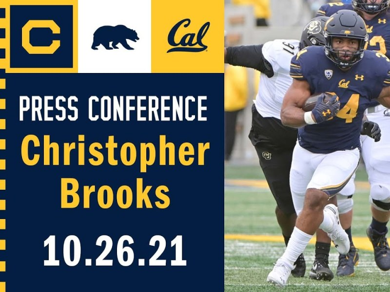 Cal Football: Christopher Brooks Press Conference … Audio Only (10.26.21)