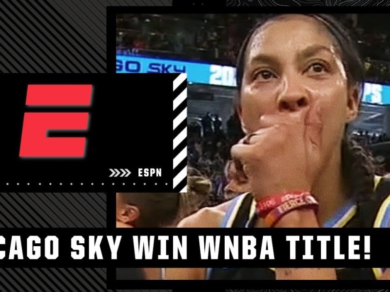 Candace Parker gets emotional after helping hometown Chicago Sky win their first WNBA title