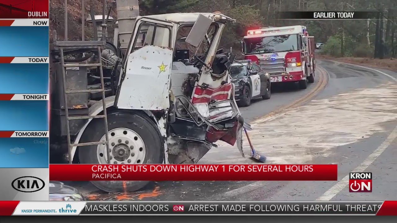 Crash shuts down Highway 1 in Pacifica for several hours - Blog