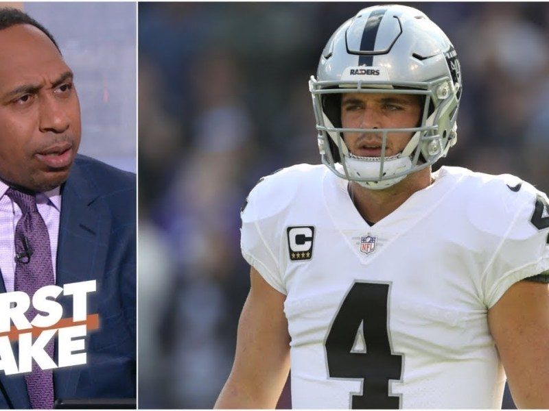 FIRST TAKE | Stephen A. EXCITED Las Vegas Raiders win vs. Denver Broncos, after Gruden's resignation
