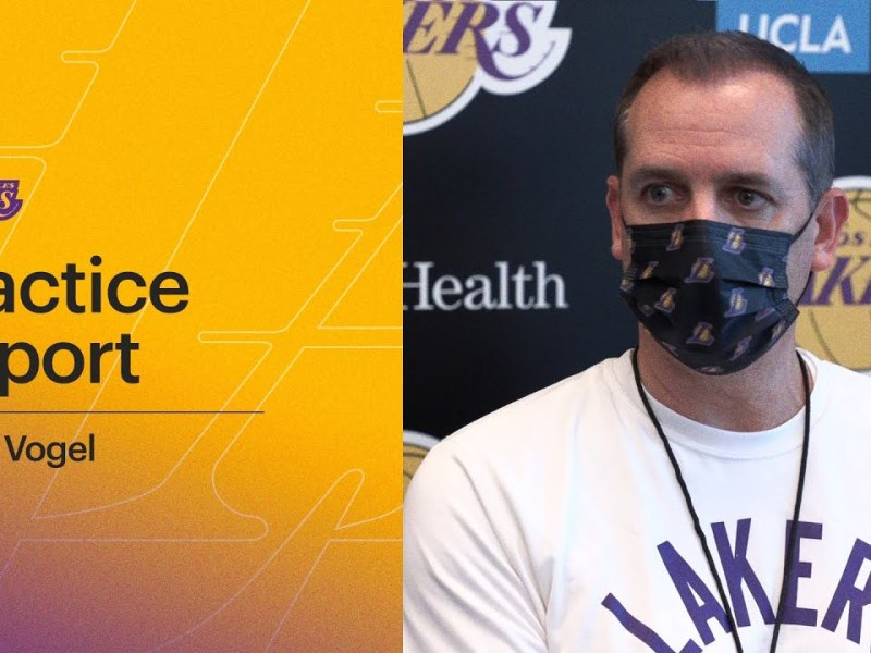 Frank Vogel talks about the progress made in today's film session at Lakers practice