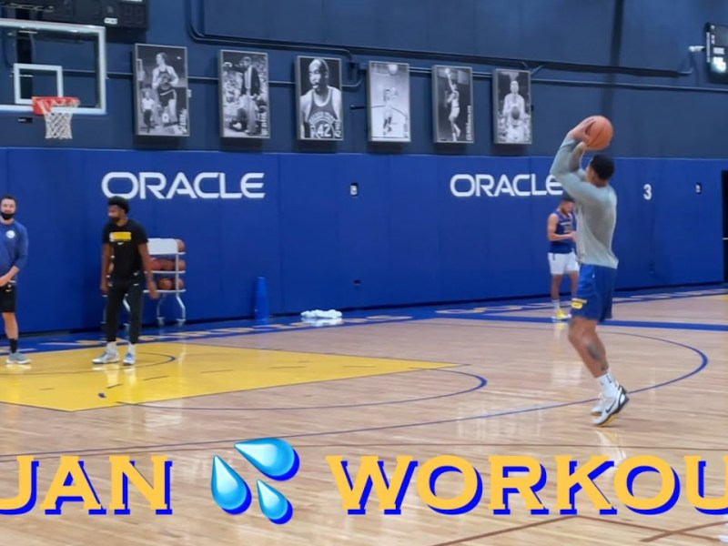 📺 Juan Toscano-Anderson (first workout video from practice) at Warriors training camp, day b4 POR