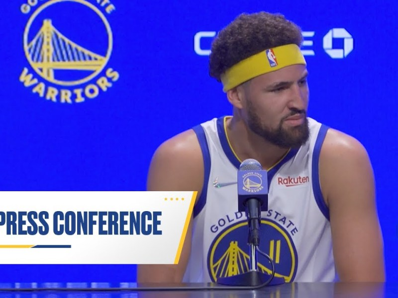 Klay Thompson 2021 Media Day Press Conference   Golden State Warriors