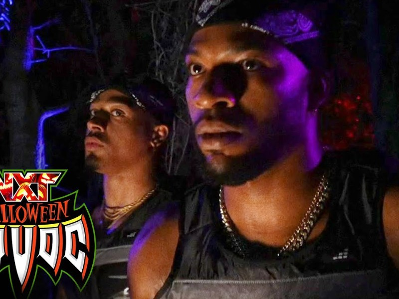 Lumis & Gargano welcome Hayes & Williams to haunted open house: WWE NXT, Oct. 26, 2021